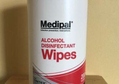 Alcohol disinfectant wipes