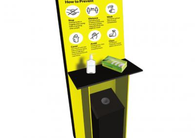 Floor Free Standing Sanitation Station