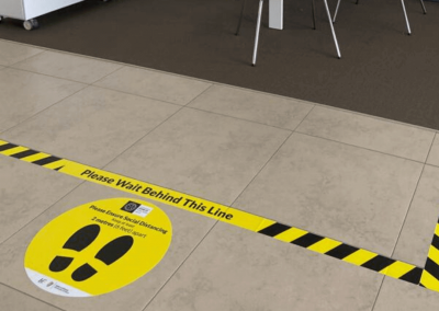 Covid19 Distancing Floor Graphics